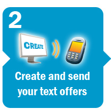 Create and send your text offers