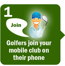 Golfers join mobile club on their phone